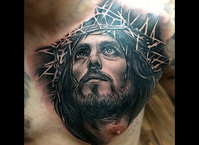 Black & Grey Tattoo Jesus