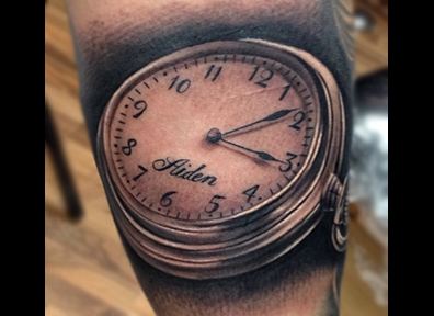 Black & Grey Tattoo Watch