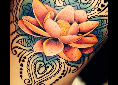 New School Tattoo Lotus Flower