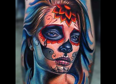 New School Tattoo woman