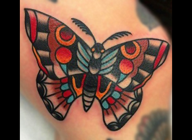 Old School Tattoo Butterfly