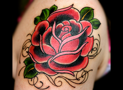 Old School Tattoo Rose