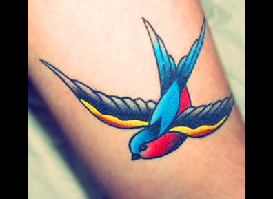 Old School Tattoo Sparrow