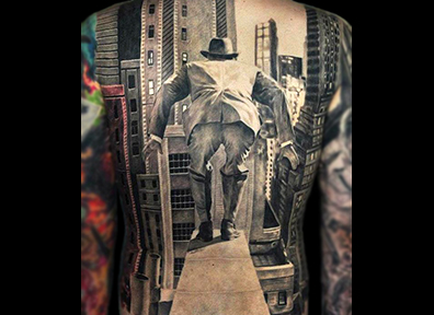 Realistic Tattoo Black & White Photo