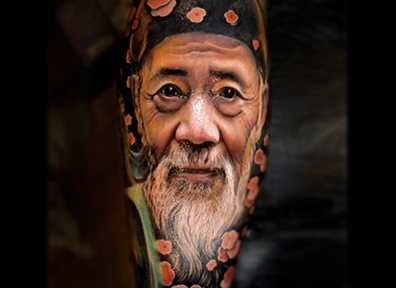 Realistic Tattoo Color Portrait