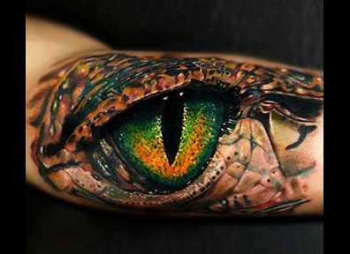 Realistic Tattoo Lizard Eye