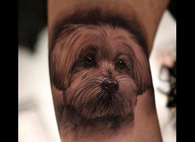 Realistic Tattoo Pet Dog