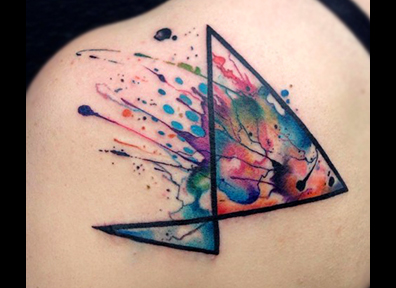 Watercolor Tattoo Abstract