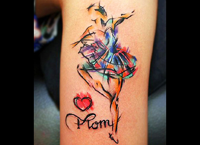 Watercolor Tattoo Ballerina