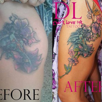 tattoo cover up leg