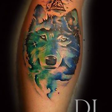 wolf tattoo watercolor